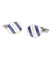 Triple Stripe Cuff Links