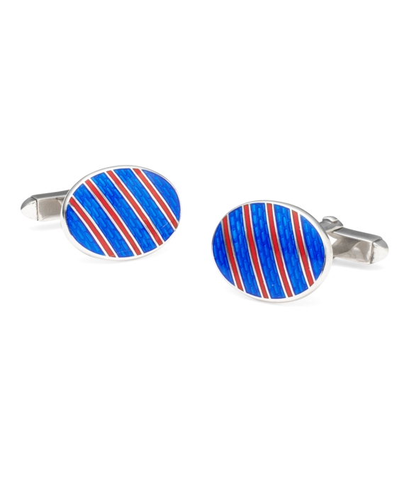 Single Stripe Cuff Links Blue-Red