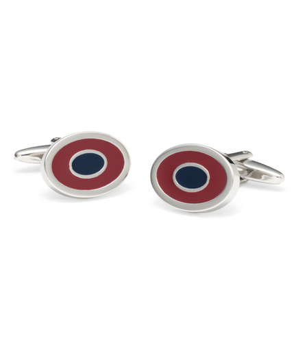 Two-Color Oval Cuff Links