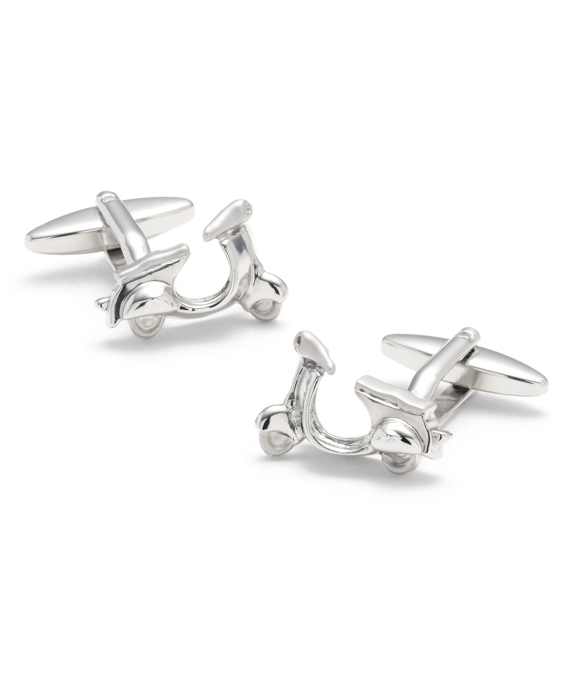 Sterling Scooter Cuff Links Silver