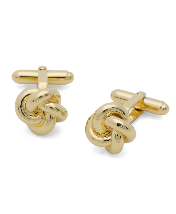Oversized Love Knot Cuff Links Gold