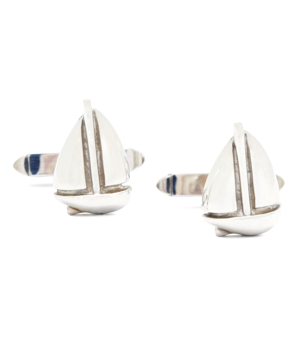 Sailboat Cuff Links Silver