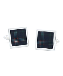 Tartan Square Cuff Links