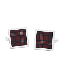 Signature Tartan Square Cuff Links
