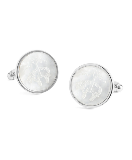 Mother-of-Pearl Etched Golden Fleece® Cuff Links
