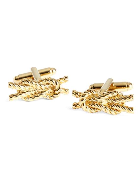 Rope Knot Cuff Links Gold
