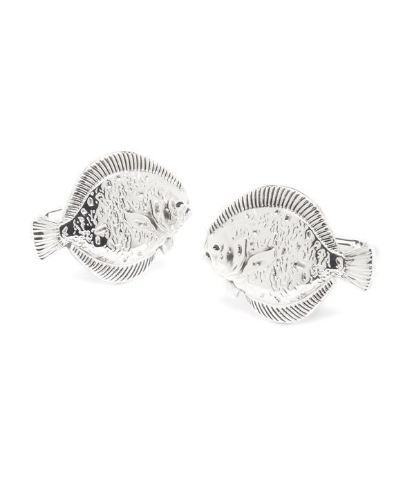 Fish Cuff Links Silver