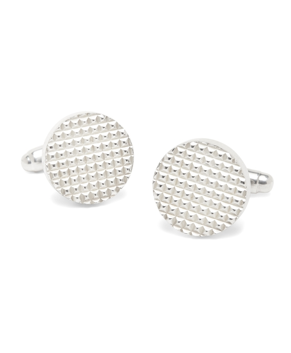 Textured Cuff Links Silver