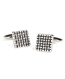 Basketweave Cuff Links