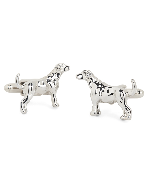 Labrador Retriever Cuff Links Silver