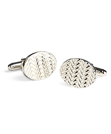 Herringbone Cuff Links