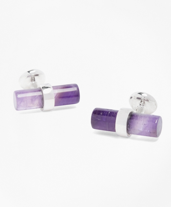 Amythst Cuff Links