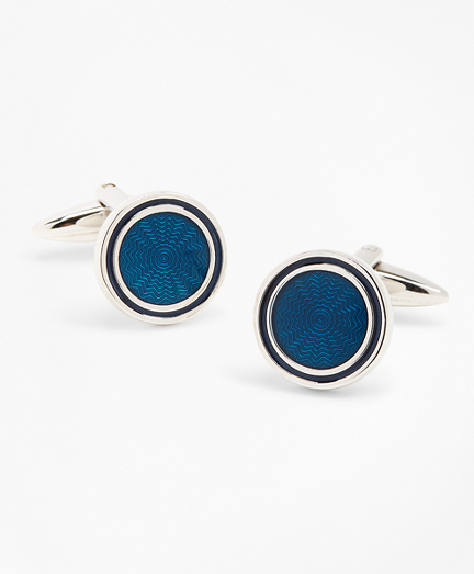 Blue Enamel Cuff Clinks