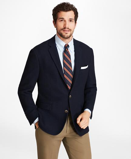 Regent Fit Textured Two-Button Blazer