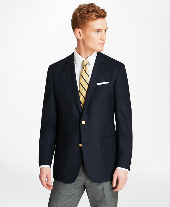 Milano Fit Doeskin Stretch Wool Blazer Navy