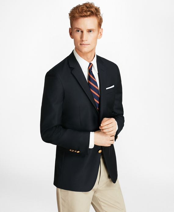 Country Club Milano Fit Saxxon™ Wool Two-Button Blazer Navy