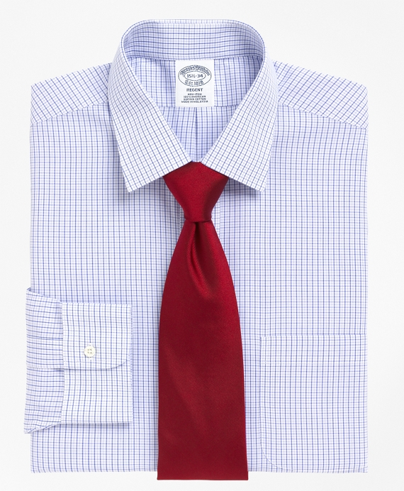 Non-Iron Regent Fit Mini Tattersall Dress Shirt