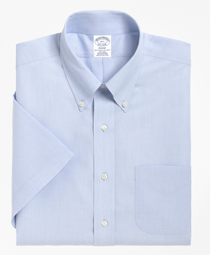 Regent Fitted Dress Shirt, Non-Iron Short-Sleeve