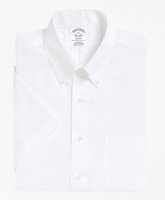Non-Iron Regent Fit Short-Sleeve Dress Shirt White