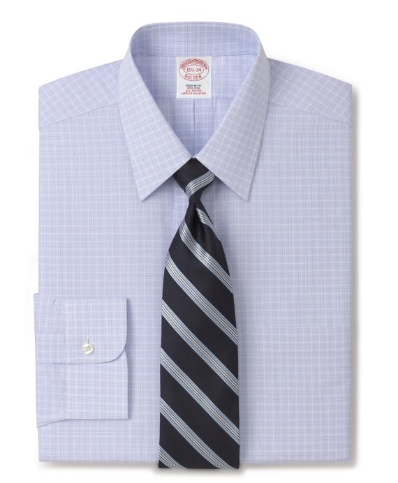 Supima Cotton Non Iron Regular Fit Glen Plaid Dress Shirt