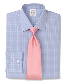 Golden Fleece® All-Cotton Slim Fit Pic Check Luxury Dress Shirt
