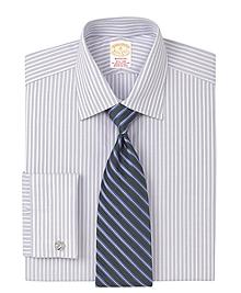 Golden Fleece® Madison Fit Micro Herringbone Stripe French Cuff Dress Shirt