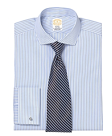 Golden Fleece® Madison Fit Satin Stripe French Cuff Dress Shirt