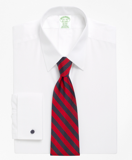 Milano Slim-Fit Dress Shirt, Non-Iron Point Collar French Cuff