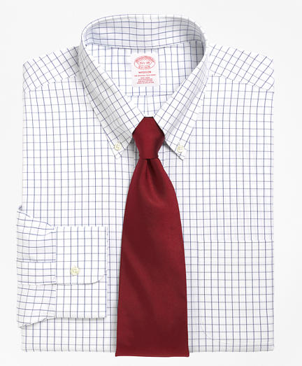 Madison Classic-Fit Dress Shirt, Non-Iron Windowpane