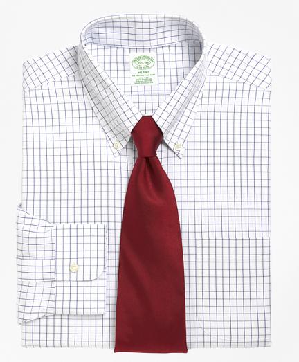 Milano Slim-Fit Dress Shirt, Non-Iron Windowpane