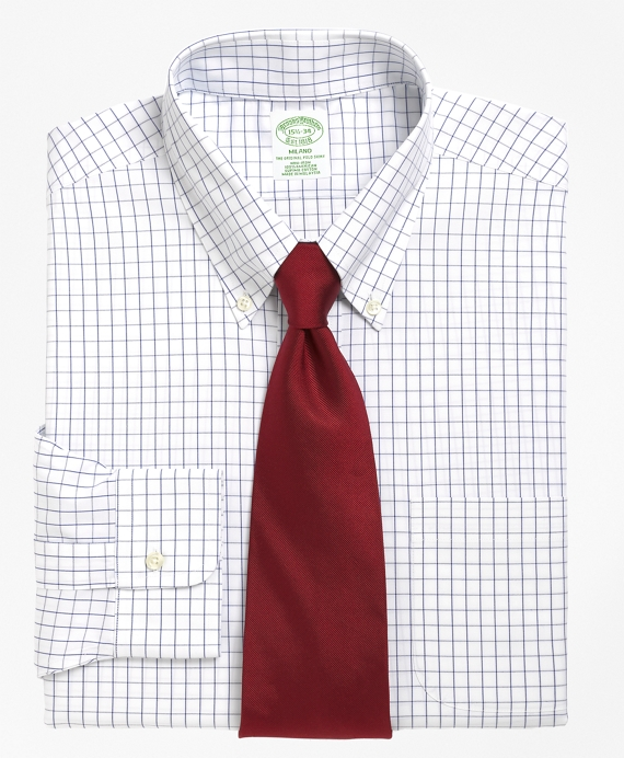 Non-Iron Milano Fit Windowpane Dress Shirt