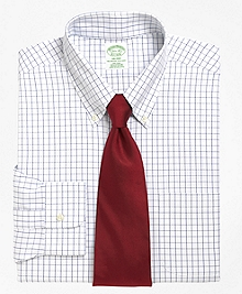 Non-Iron Milano Fit Windowpane Dress Shirt