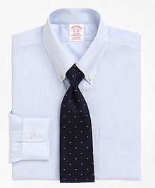 Non-Iron Madison Fit Mini Pinstripe Dress Shirt