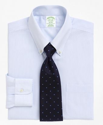 Non-Iron Milano Fit Mini Pinstripe Dress Shirt