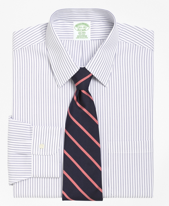 Non-Iron Milano Fit Pencil Stripe Dress Shirt