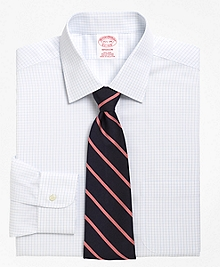 Non-Iron Madison Fit Medium Check Dress Shirt