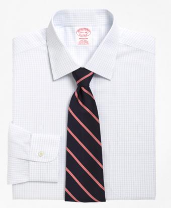Non-Iron Madison Fit Medium Check Dress Shirt