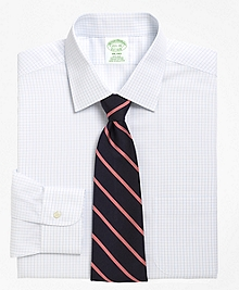 Non-Iron Milano Fit Medium Check Dress Shirt