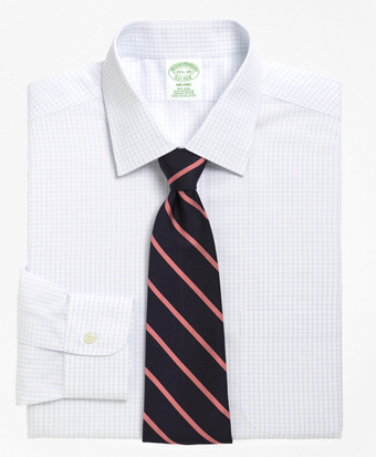 Non-Iron Milano Fit Medium Check Dress Shirt