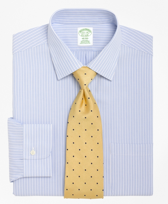 Non-Iron Milano Fit Ground Stripe Dress Shirt