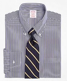 Non-Iron Madison Fit Bengal Stripe Dress Shirt