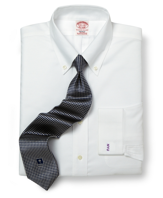 New York University All-Cotton Non-Iron BrooksCool® Regular Fit  Dress Shirt White
