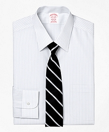 Non-Iron Madison Fit Thick and Thin Stripe Dress Shirt