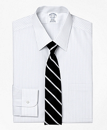 Non-Iron Regent Fit Thick and Thin Stripe Dress Shirt
