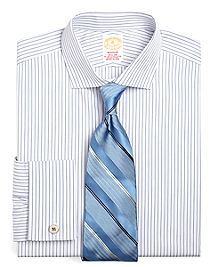 Golden Fleece® Madison Fit Alternating BB# 1 Stripe French Cuff Dress Shirt