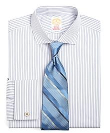Golden Fleece® Madison Fit Alternating BB# 1 Stripe French Cuff Dress Shirt