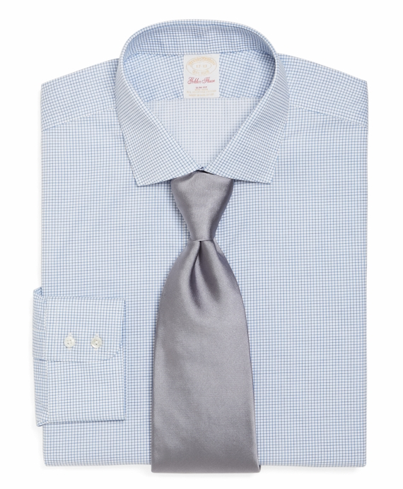 Golden Fleece® Non-Iron Regent Fit Check Dress Shirt Blue