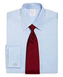 Golden Fleece® Regent Fit Ground Check Stripe French Cuff Dress Shirt