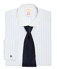 Golden Fleece® Madison Fit Alternating Stripe French Cuff Dress Shirt
