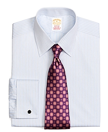Golden Fleece® Madison Fit Textured Stripe French Cuff Dress Shirt